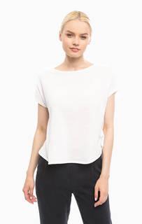Хлопковая футболка оверсайз белого цвета Stefanel