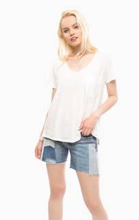 Белая футболка из хлопка оверсайз Scotch&Soda