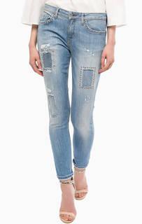 Зауженные джинсы с металлическим декором Liu Jo