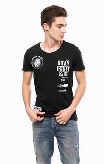 Черная футболка с круглым вырезом Mavi