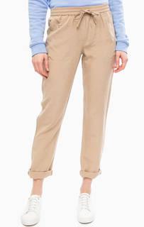 Бежевые зауженные брюки Gant