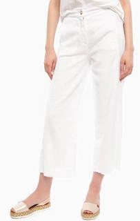 Белые брюки кюлоты прямого кроя River Woods