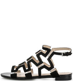 Черные сандалии из натуральной замши Guess
