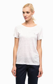 Белая футболка с короткими рукавами Lacoste