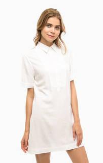 Короткое белое платье из хлопка Gant