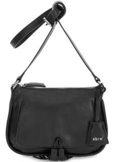 Черная кожаная сумка через плечо Abro