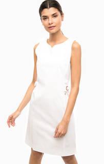 Приталенное белое платье Marina Yachting