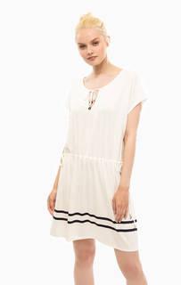 Платье из вискозы молочного цвета Marina Yachting