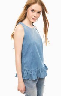 Синий джинсовый топ Fornarina