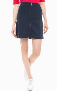 Короткая синяя юбка на молнии Hilfiger Denim