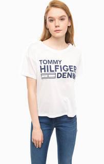 Трикотажная футболка с принтом Hilfiger Denim