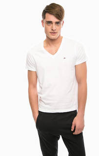 Базовая футболка с треугольным вырезом Hilfiger Denim