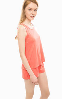 Комплект из майки и шорт кораллового цвета Tommy Hilfiger