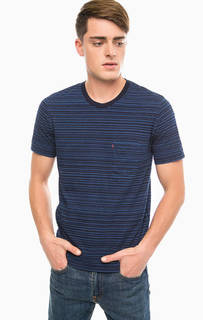 Синяя футболка в полоску Levis®