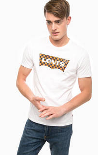 Белая хлопковая футболка с круглым вырезом Levis®