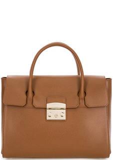 Кожаная сумка со съемным плечевым ремнем Furla