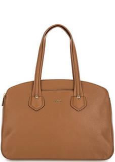 Коричневая сумка из натуральной кожи Furla