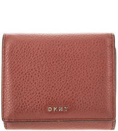 Кожаный кошелек с отделением для мелочи Dkny