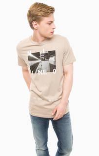 Хлопковая футболка с круглым вырезом Jack & Jones