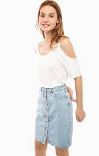 Свободная футболка с открытыми плечами Vero Moda