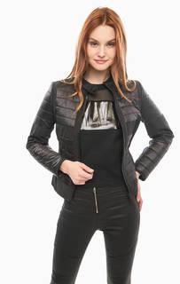 Черная куртка с трикотажными вставками Calvin Klein Jeans