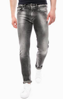 Зауженные джинсы серого цвета Calvin Klein Jeans