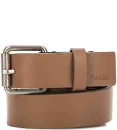 Коричневый ремень из натуральной кожи Calvin Klein Jeans