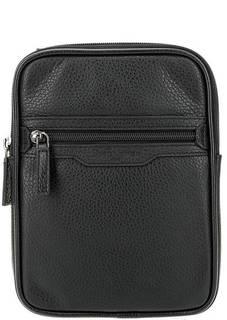 Черная сумка через плечо из натуральной кожи Lancaster