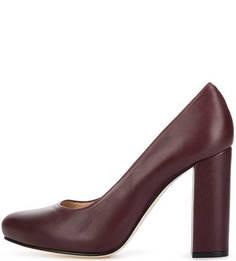 Кожаные туфли на каблуке и скрытой платформе Unisa
