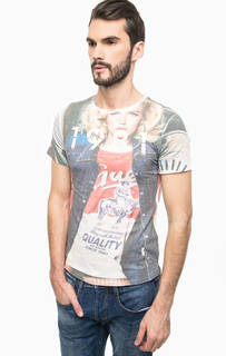Разноцветная футболка с короткими рукавами Guess