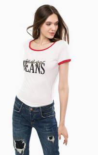 Белая футболка с короткими рукавами Guess