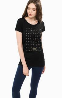 Черная футболка с короткими рукавами Guess