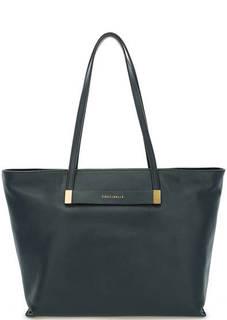 Вместительная кожаная сумка с длинными ручками Coccinelle