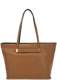 Вместительная сумка из натуральной кожи Coccinelle