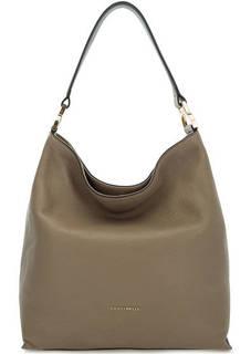 Серо-коричневая сумка из мягкой кожи Coccinelle
