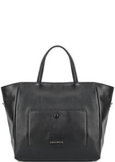 Черная сумка из натуральной кожи Coccinelle