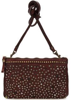 Кожаная сумка с дополнительным плечевым ремнем Campomaggi