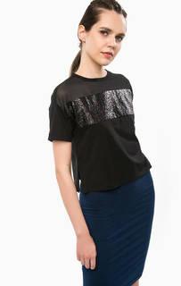 Укороченная футболка с разрезами по бокам Calvin Klein Jeans