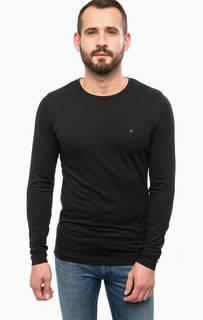 Черная футболка с длинными рукавами Calvin Klein Jeans