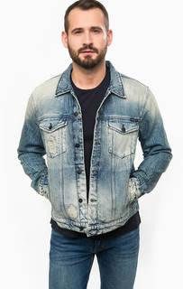 Рваная джинсовая куртка на болтах Calvin Klein Jeans