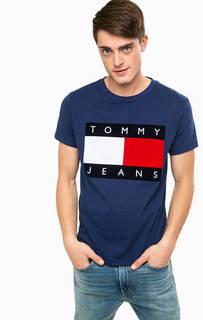Синяя футболка с короткими рукавами Hilfiger Denim