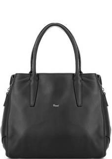 Черная сумка с короткими ручками на молнии Bruno Rossi