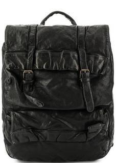 Вместительный кожаный рюкзак с откидным клапаном Bruno Rossi