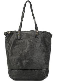 Вместительная кожаная сумка с длинными ручками Bruno Rossi