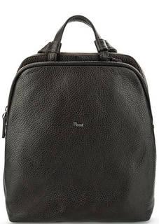 Темно-коричневый кожаный рюкзак с двумя отделами Bruno Rossi