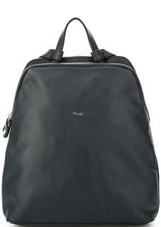 Синий кожаный рюкзак с двумя отделами Bruno Rossi