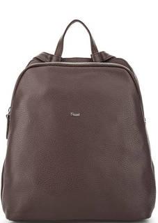 Бордовый рюкзак из натуральной кожи Bruno Rossi
