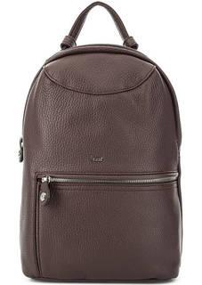 Бордовый рюкзак из натуральной кожи на молнии Bruno Rossi