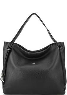 Черная сумка из мягкой кожи на молнии Bruno Rossi