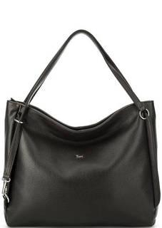 Коричневая сумка из мягкой кожи на молнии Bruno Rossi